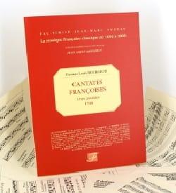 Thomas-Louis Bourgeois - Cantates Françoises Livre 1er - Partition - di-arezzo.fr