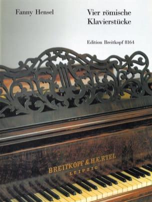 Fanny Hensel-Mendelssohn - 4 Römische Klavierstücke - Partition - di-arezzo.fr