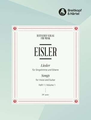Hanns Eisler - Lieder Pour Voix et Guitare Volume 1 - Partition - di-arezzo.fr