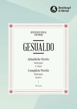 Madrigaux Livre 6 di Venosa, Carlo Gesualdo Partition laflutedepan