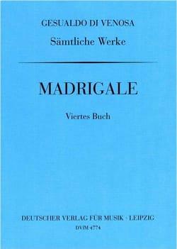 di Venosa, Carlo Gesualdo - Madrigals Book 4 - Sheet Music - di-arezzo.co.uk