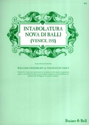 - Intabolatura Nova Di Balli Venise 1551 - Partition - di-arezzo.fr
