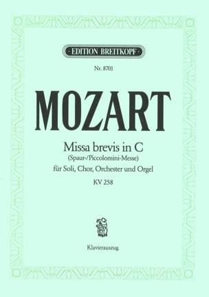 MOZART - Missa Brevis In CK 258 - Sheet Music - di-arezzo.co.uk