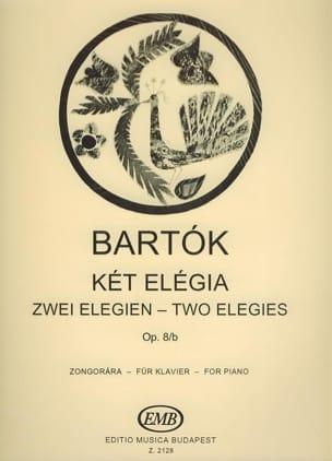 Bela Bartok - 2 Elégies Opus 8b - Partition - di-arezzo.fr