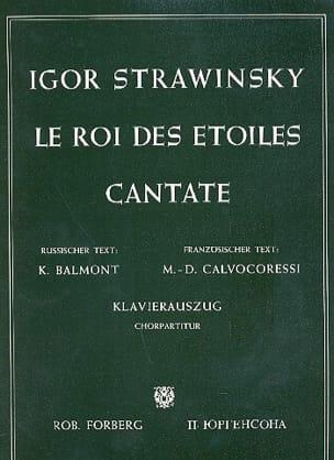 Igor Stravinski - Le Roi des Etoiles - Partition - di-arezzo.fr