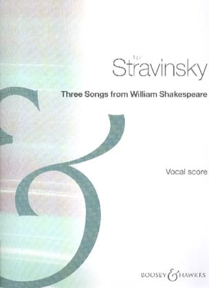 Igor Stravinski - 3 Songs From Shakespeare - Partition - di-arezzo.fr