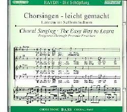 Die Schöpfung CD Basse HAYDN Partition Chœur - laflutedepan