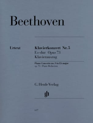 BEETHOVEN - Piano Concerto No. 5 Opus 73 In E Flat Major - Sheet Music - di-arezzo.com