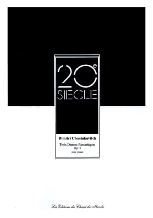CHOSTAKOVITCH - 3 Fantastic Dances Opus 5 - Sheet Music - di-arezzo.co.uk