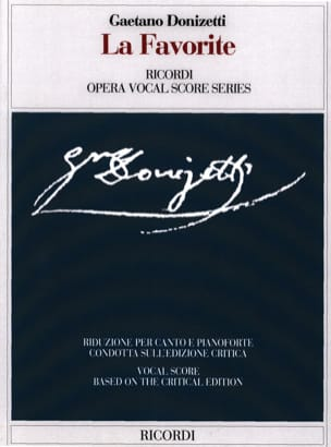 Gaetano Donizetti - The Favorite. Critical edition. - Sheet Music - di-arezzo.co.uk