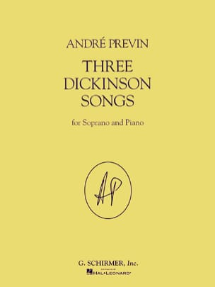 3 Dickinson Songs - André Prévin - Partition - laflutedepan.com