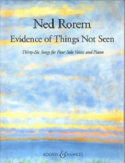 Evidence Of Things Not Seen - Ned Rorem - Partition - laflutedepan.com