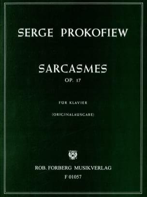Sergei Prokofiev - Sarcasmes Opus 17 - Partition - di-arezzo.fr