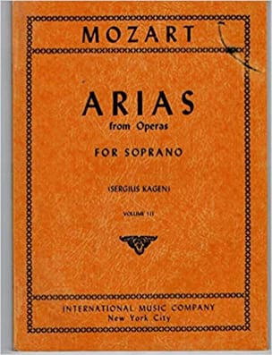 MOZART - 40 Arias from Operas Soprano Volume 3 - Partition - di-arezzo.com