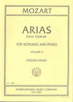 40 Arias from Operas Soprano Volume 2 MOZART Partition laflutedepan