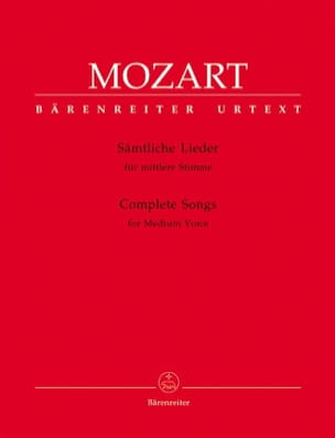 MOZART - Sämtliche Lieder. Average Voice. - Sheet Music - di-arezzo.co.uk