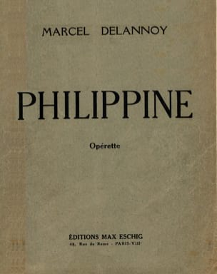 Philippine - Delannoy - Partition - Opéras - laflutedepan.com
