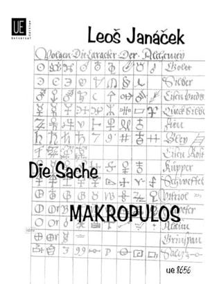 Die Sache Makropulos - JANACEK - Partition - Opéras - laflutedepan.com