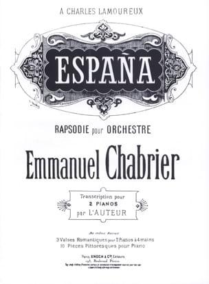España. 2 Pianos - Emmanuel Chabrier - Partition - laflutedepan.com