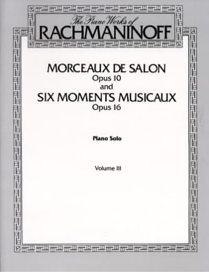 RACHMANINOV - Pieces From Salon Opus 10 and 6 Musical Moments Opus 16 - Sheet Music - di-arezzo.co.uk