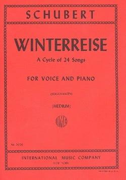 Winterreise Opus 89. Voix Moyenne - Franz Schubert - laflutedepan.com