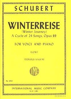 Winterreise Opus 89. Voix Grave SCHUBERT Partition laflutedepan