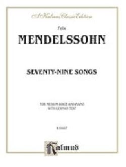 79 Songs Voix Moyenne - MENDELSSOHN - Partition - laflutedepan.com
