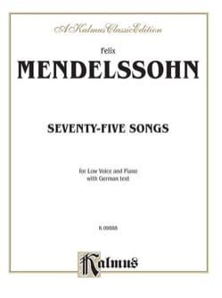 79 Songs Voix Grave MENDELSSOHN Partition Mélodies - laflutedepan