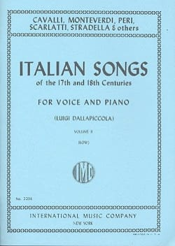 - Italian Songs 17 Th And 18th Centuries Voix Grave Volume 2 - Partition - di-arezzo.fr