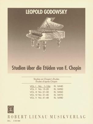 Etudes D'aprés Chopin Volume 1 GODOWSKY Partition Piano - laflutedepan