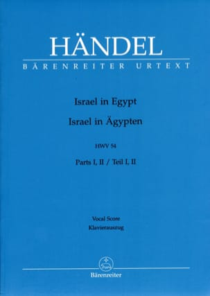 HAENDEL - Israel In Complete Egypt - Sheet Music - di-arezzo.co.uk