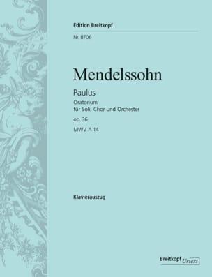 MENDELSSOHN - Paulus Opus 36 - Partitura - di-arezzo.it