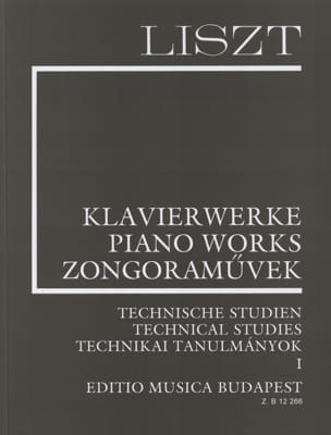 Franz Liszt - Technical Studies Volume 1 - Sheet Music - di-arezzo.co.uk