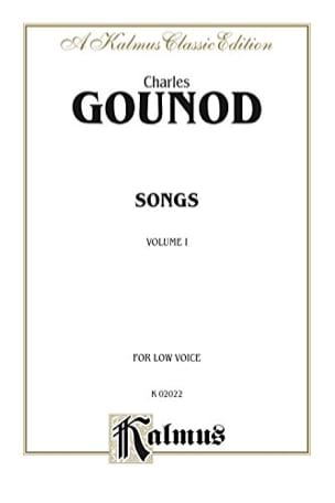 Charles Gounod - Songs Volume 1. Voix Grave - Partition - di-arezzo.fr