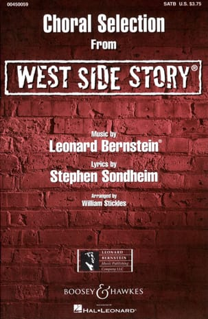 Leonard Bernstein - West Side Story Choral Sélection - Partition - di-arezzo.ch