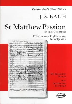 BACH - Passion selon Saint Matthieu - BWV 244 - Partition - di-arezzo.fr