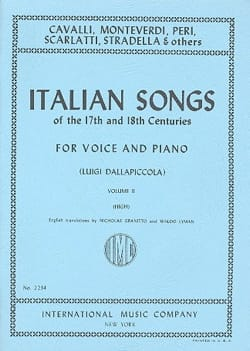 Italian Songs 17th And 18th Centuries Voix Haute Volume 2 - laflutedepan.com
