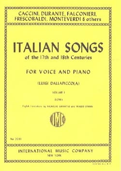 Italian Songs 17th And 18th Centuries Voix Grave Vol 1 - laflutedepan.com