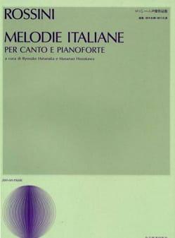 Gioachino Rossini - Mélodies Italiennes - Partition - di-arezzo.fr