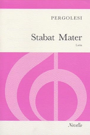 Giovanni Battista Pergolese - Stabat Mater Arrangement - Sheet Music - di-arezzo.co.uk