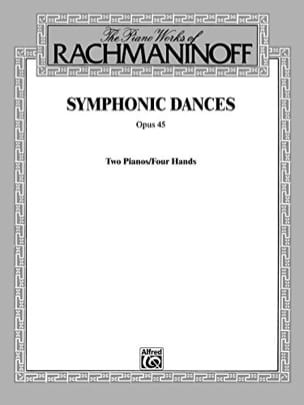 RACHMANINOV - Symphonic Dances Opus 45. 2 Pianos - Sheet Music - di-arezzo.com