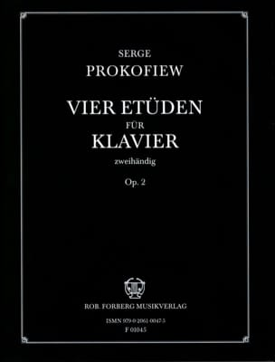 Sergei Prokofiev - 4 Etudes Opus 2 - Partition - di-arezzo.fr