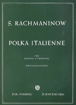 RACHMANINOV - Italian polka. 4 Hands - Partition - di-arezzo.co.uk