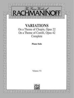 RACHMANINOV - Variations - Partition - di-arezzo.fr