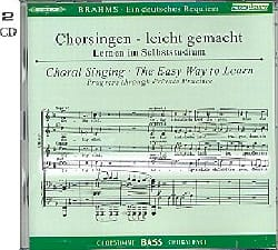 Ein Deutsches Requiem Opus 45. Voix Basse 2 CD BRAHMS laflutedepan