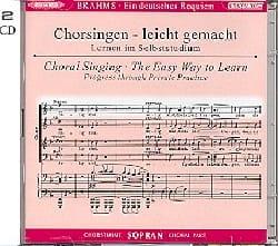 Ein Deutsches Requiem Opus 45. Voix Soprano 2 CD BRAHMS laflutedepan