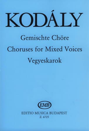 Zoltan Kodaly - Gemischte Chöre - Sheet Music - di-arezzo.co.uk
