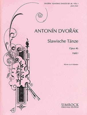 Anton Dvorak - Danses Slaves Opus 46 Volume 1. 4 mains - Partition - di-arezzo.fr