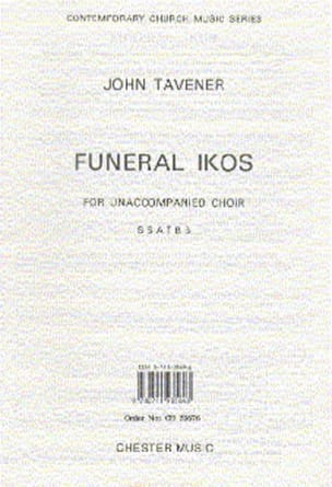 Funeral Ikos John Tavener Partition Chœur - laflutedepan