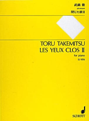 Les Yeux Clos II TAKEMITSU Partition Piano - laflutedepan